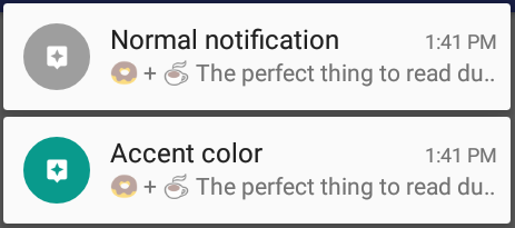 Changing accent color - Android | PushBots Help Center